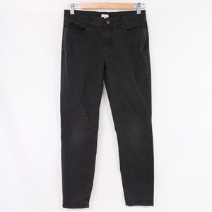J. Crew Black Stretch Skinny Jeans